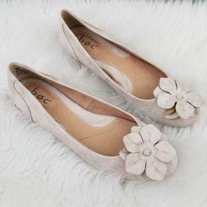 B.O.C. Emalia Champagne Slip On Flats Shoes